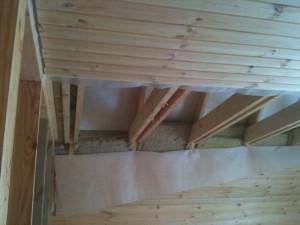 Подшивной потолок в бане (монтаж)
