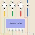 Схема подключения трёхфазного счётчика через трансформаторы тока