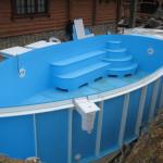 Пластиковый бассейн для дачи