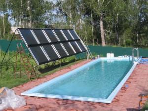 Подогрев бассейна солнечными коллекторами