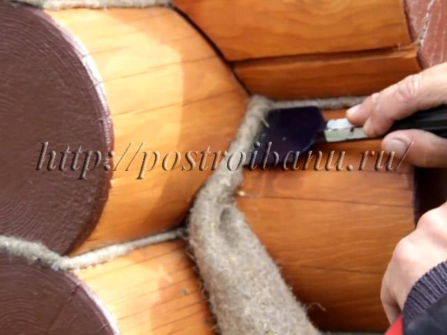 Конопатка сруба своими руками: инструкции и технологии
