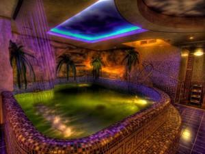 Освещение бассейна в хаммаме