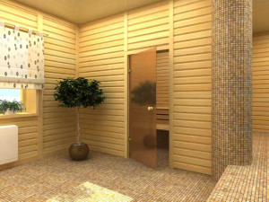 Стеклянная дверь для бани и сауны
