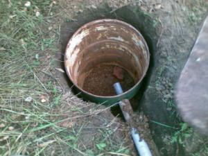 Сливная яма из бочки