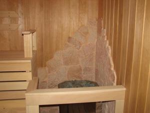 Терракотовая плитка в сауне