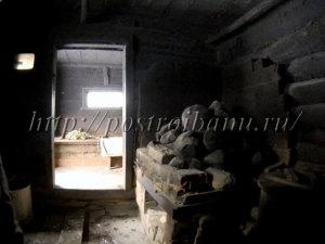 Печь в русской чёрной бане