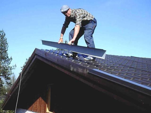 63Покрыть крышу из металлочерепицы своими руками