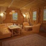 Большие размеры бани (комната отдыха)