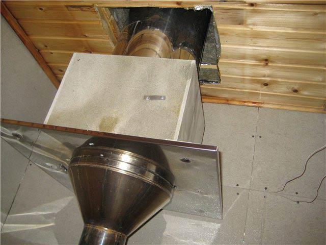 Монтаж трубы в бане