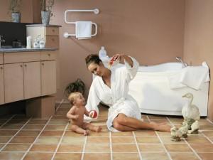 Тёплые водяные полы в ванной