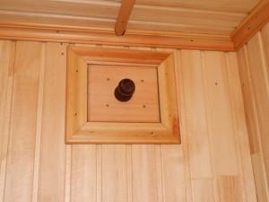 Заглушка для банного вентканала