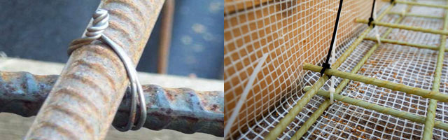 Вязка арматуры под ленточный фундамент своими руками: способы и схемы