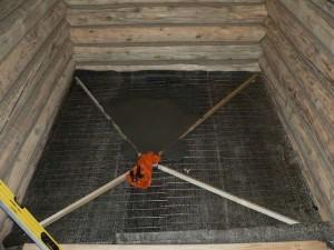 Заливка пола бетоном в бане своими руками
