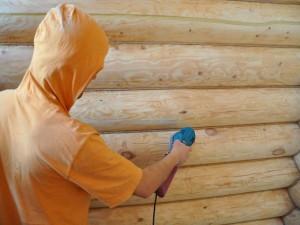 Краски для шлифованного бревна по низкой цене. Купить краску для бревенчатого дома внутри и снаружи