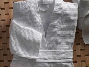 Вафельный халат для бани и сауны