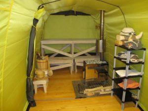 Баня палатка с печкой