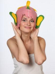 Прикольные шапки для бани