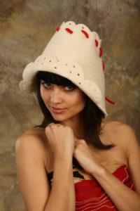 Как сделать банную шапку