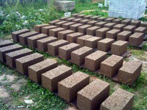 Сушка готовых блоков