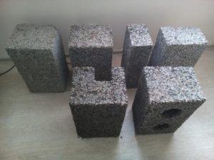 Арболитовые блоки своими руками различных размеров