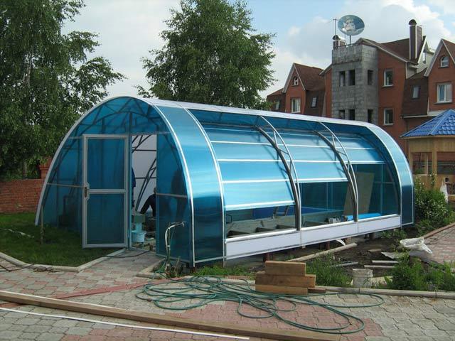 Строительство павильона для бассейна