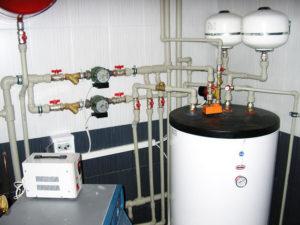 Система отопления и бойлер косвенного нагрева
