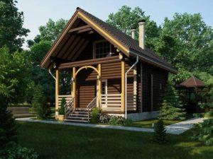 Баня дом двухэтажная проект