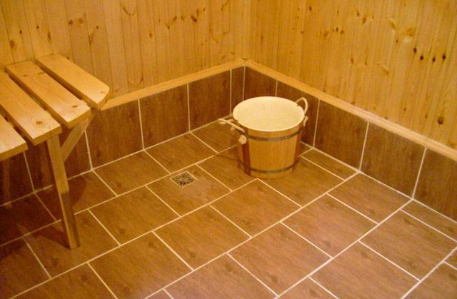 Полы в бане своими руками с поэтапными