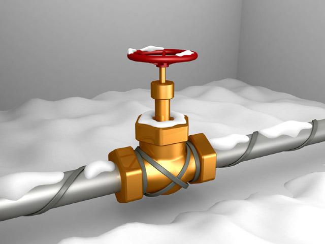 как отогреть водопровод греющим кабелем