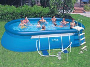 Надувной бассейн для дачи Интекс