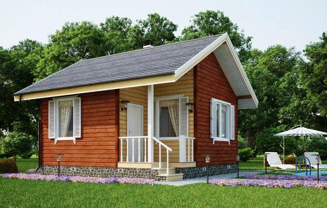 Проект каркасного дома 30 м. кв.