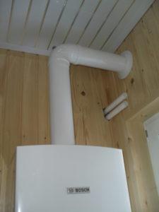 Коаксиальный дымоход в деревянном доме