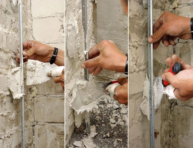 Штукатурка стен цементным раствором своими руками без маяков 100