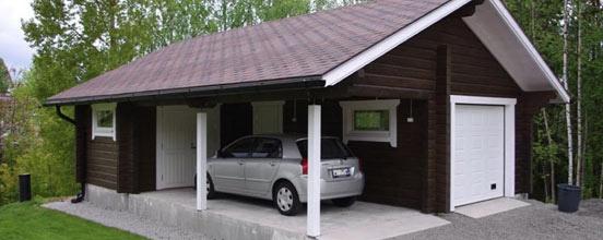 Баня с гаражом и терассой