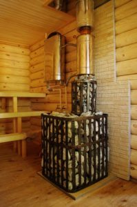 Банная печь с выносным баком для воды