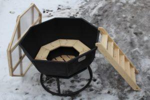 Чан для бани на дровах